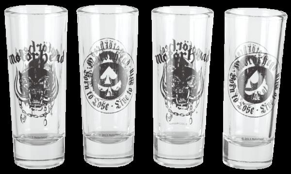 MERC - MOTORHEAD SHOOT GLASS 4 SET